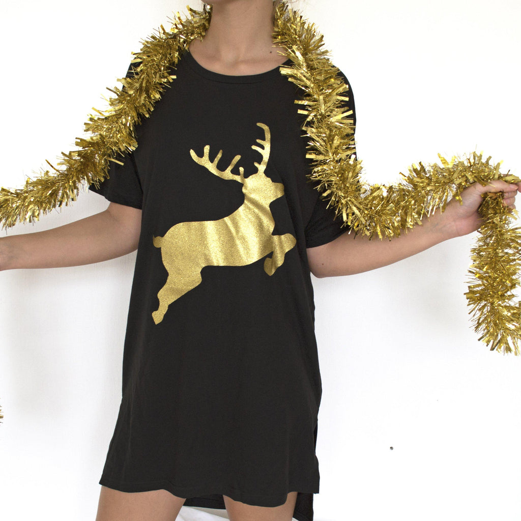 Glitter Reindeer Christmas Nightie, nightie, - ALPHS