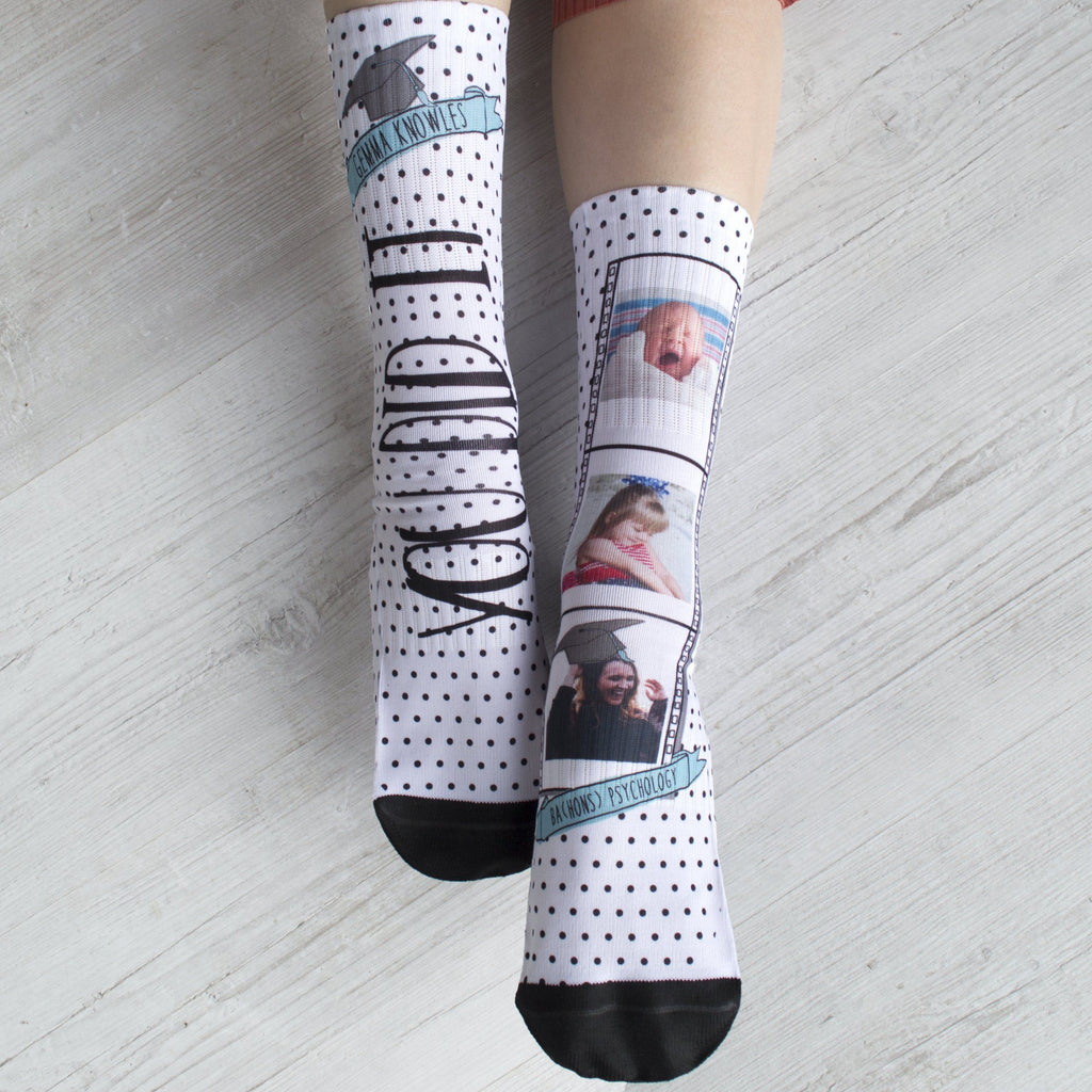 Personalised Photo Graduation Socks, socks, - ALPHS