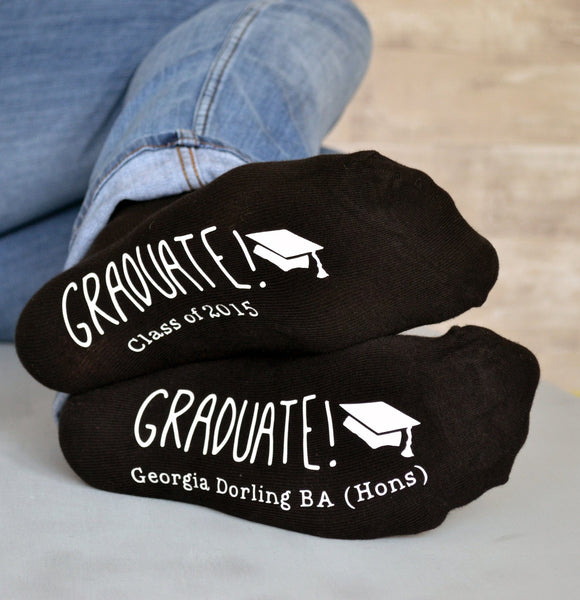 Personalised Graduation Socks - ALPHS  - 2