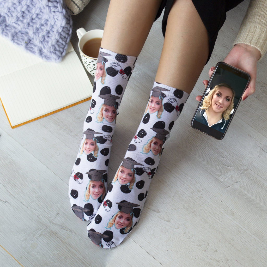 Personalised Graduation Photo Socks