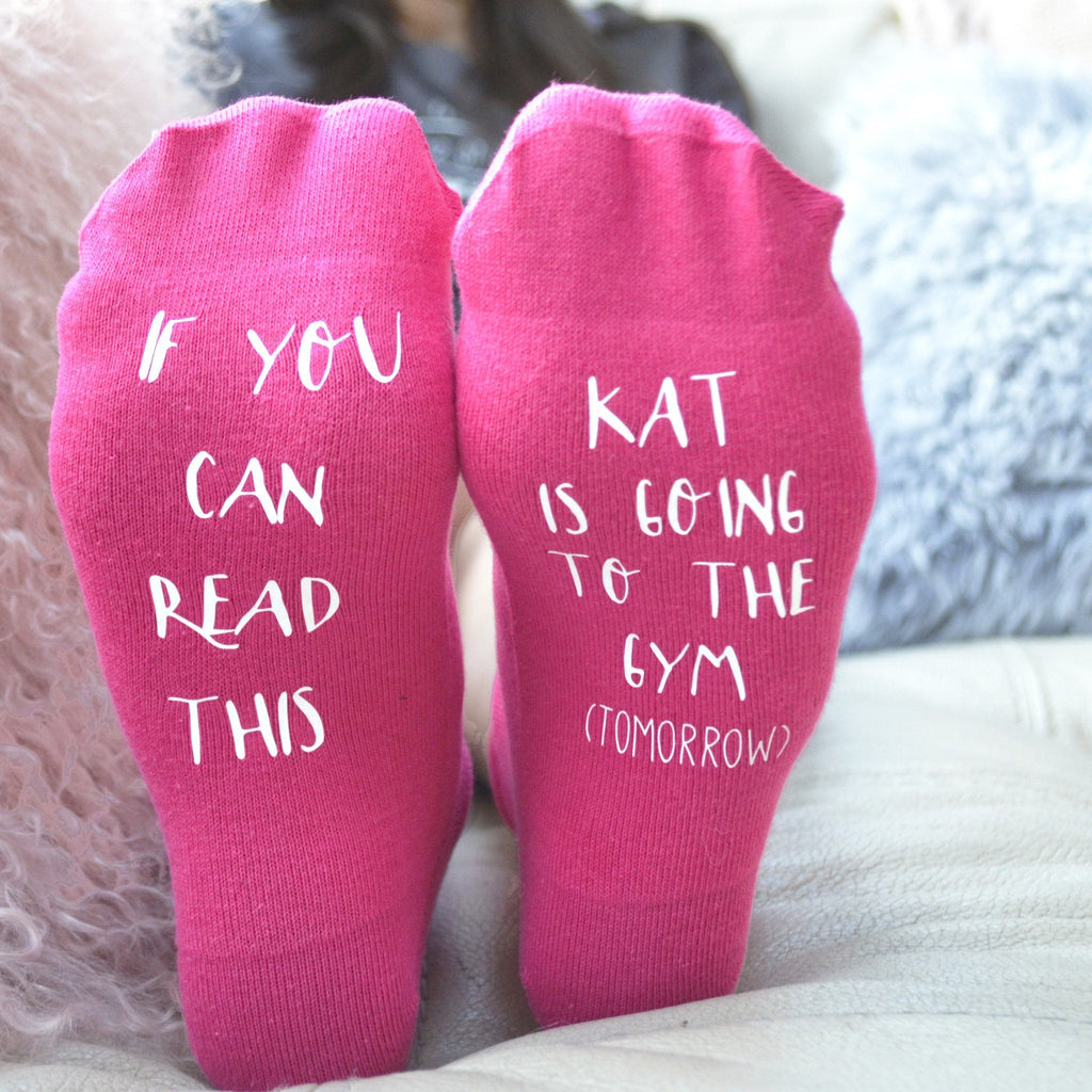 Personalised Gift Socks - Going to the Gym.. Tomorrow, Socks, - ALPHS