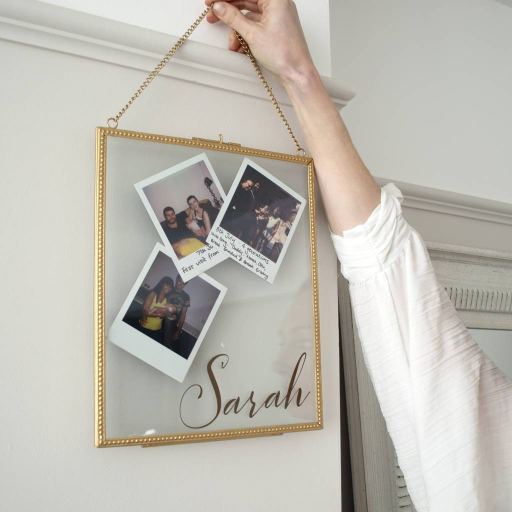 Personalised Hanging Name Frame