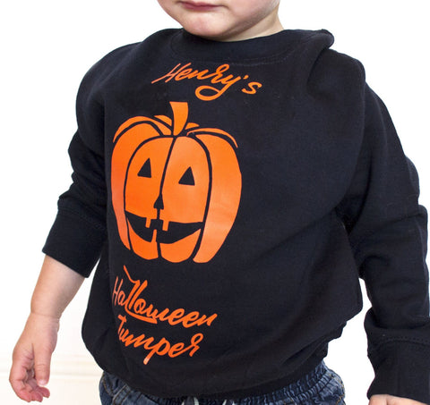 Personalised Halloween Jumper Pumpkin
