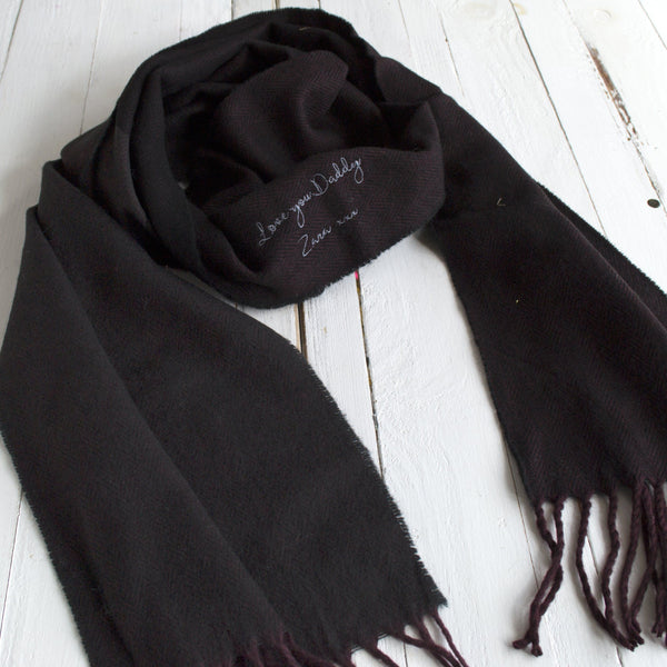 Men's Hidden Message Herringbone Winter Scarf