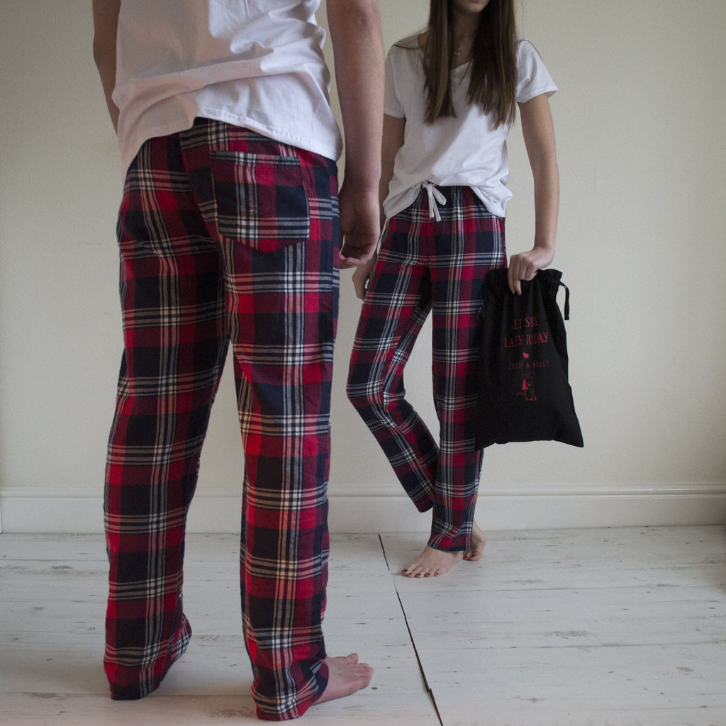 Personalised His And Hers Matching Loungewear Gift Set, Pyjamas, - ALPHS