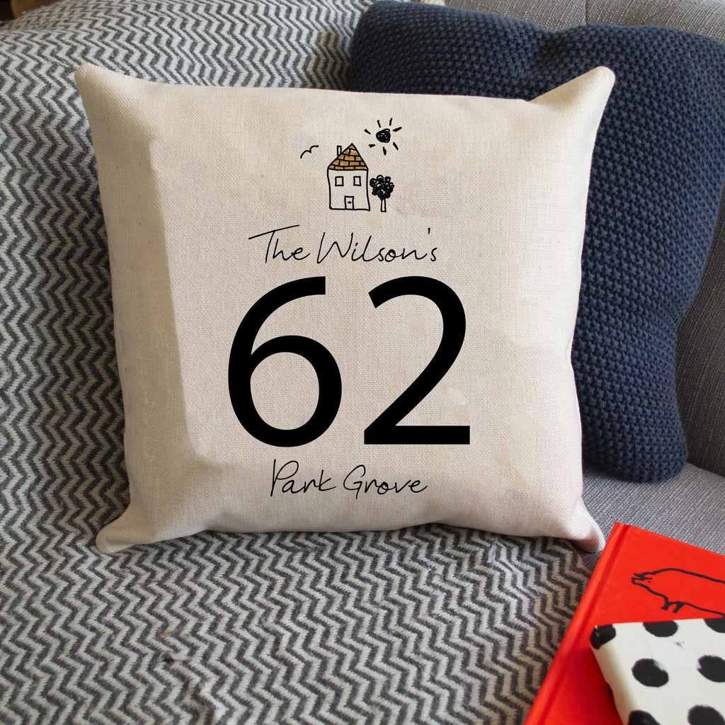 Personalised Family Home Cushion, cushion, - ALPHS
