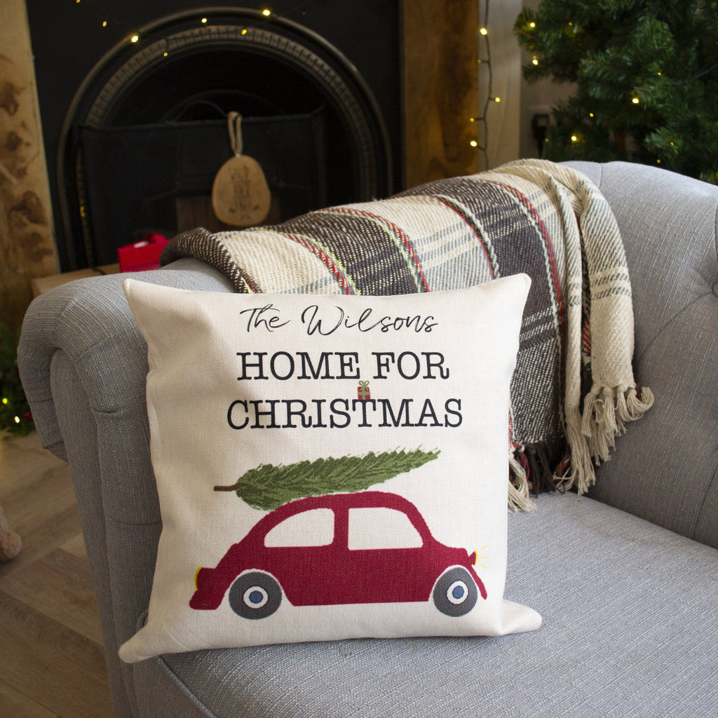 Personalised Home For Christmas Cushion, cushion, - ALPHS