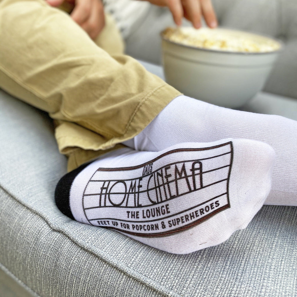Dad's Home Cinema Personalised Socks