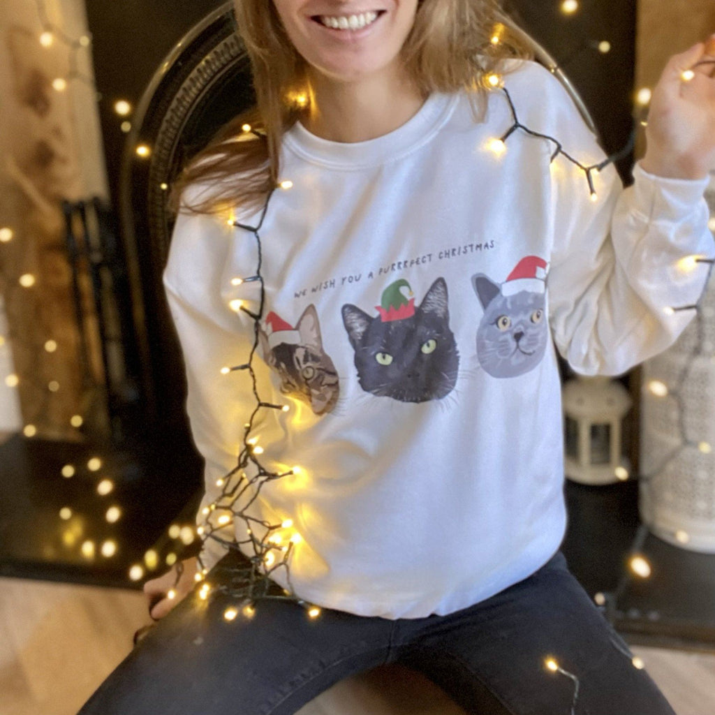 Personalised Purrrfect Christmas Jumper