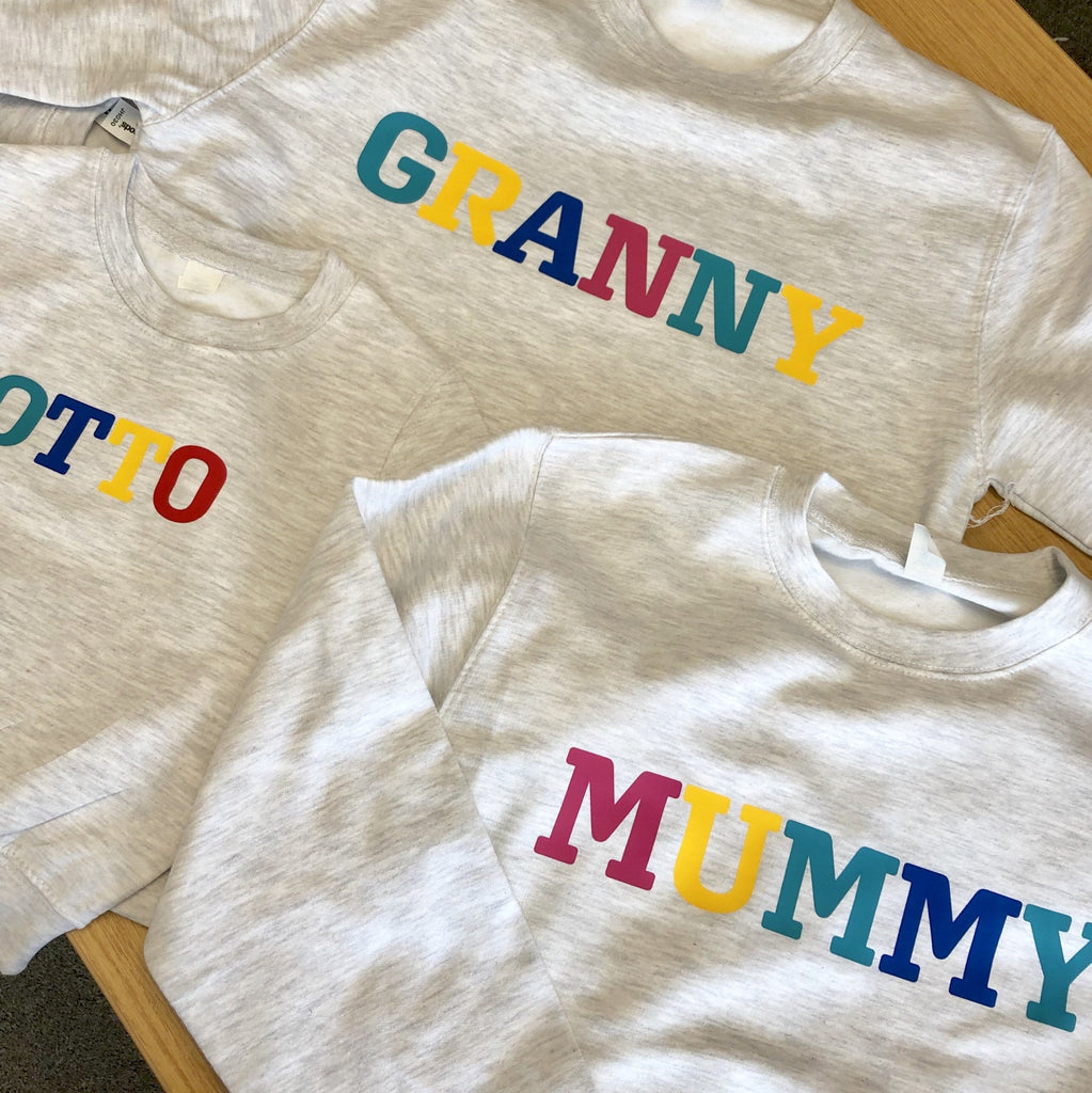 Personalised rainbow mummy jumper, Sweatshirt, - ALPHS