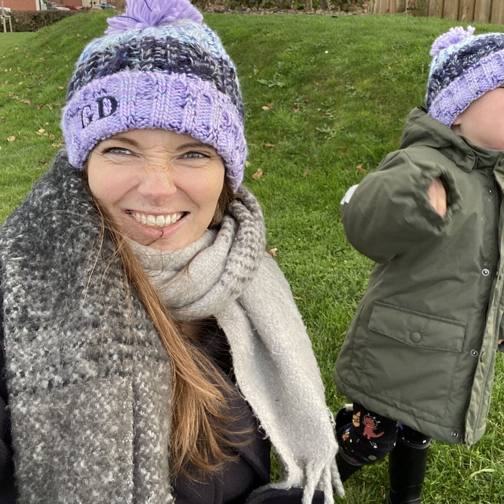 Mummy and Me Personalised Matching Winter Hat