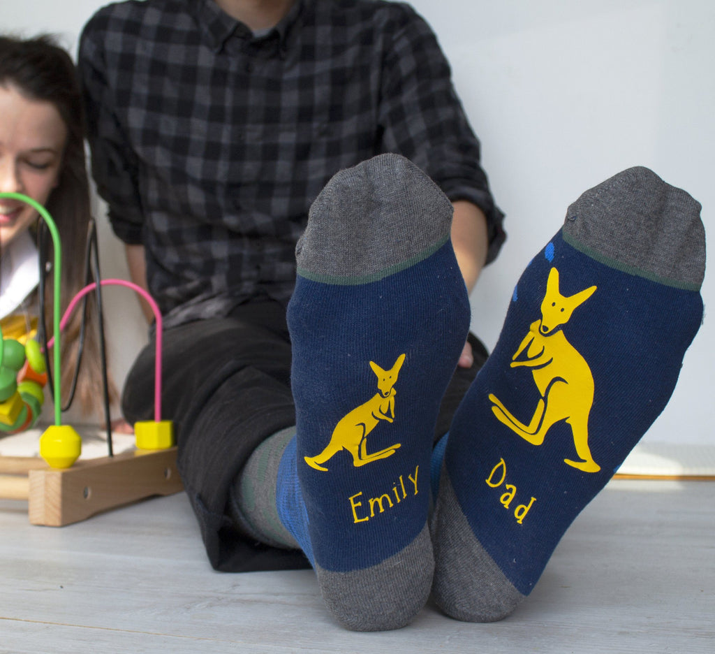 Personalised Daddy Kangaroo Socks, , - ALPHS