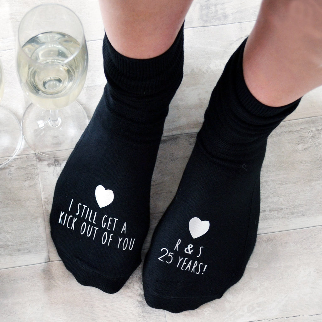 "Personalised Socks - ""I get a kick out of you"", Socks, - ALPHS"