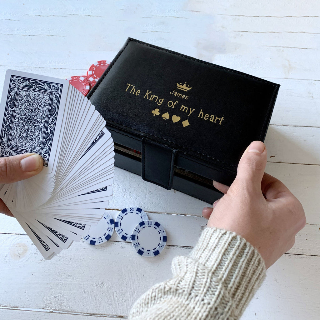 Personalised King Of My Heart Poker Set, Games, - ALPHS