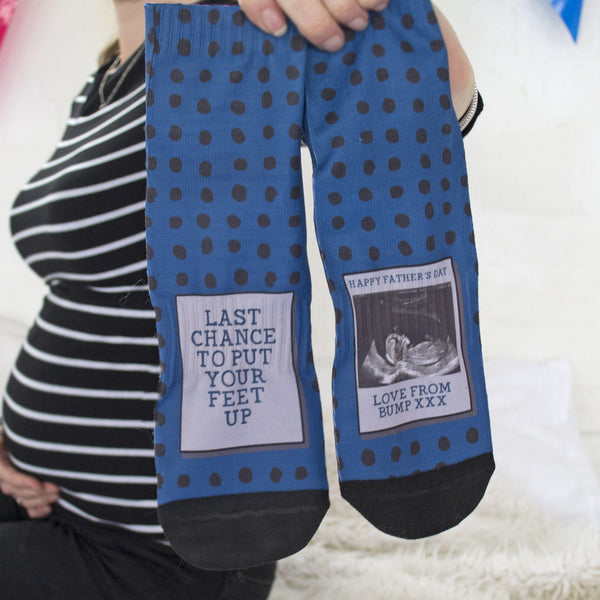 Daddy To Be Photo Socks