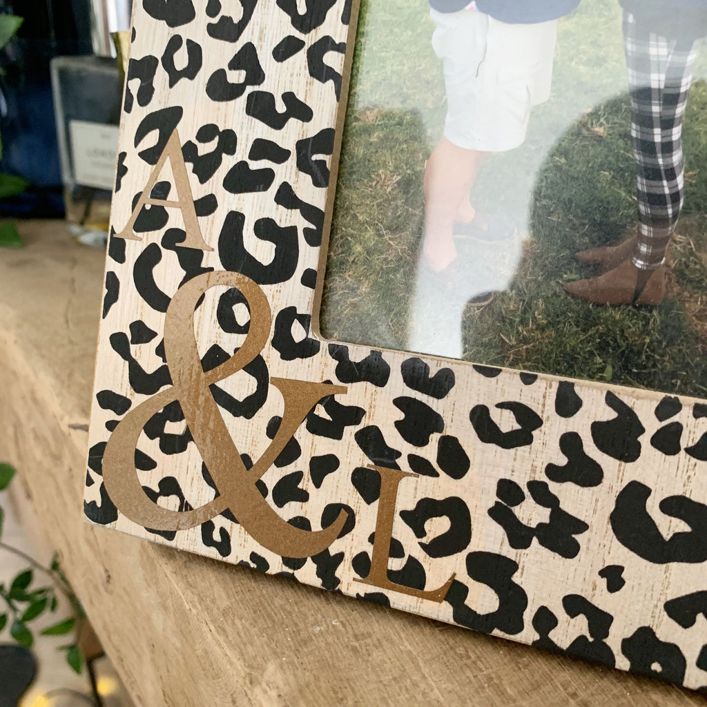 Personalised Animal Print Best Friend Frame, Frame, - ALPHS