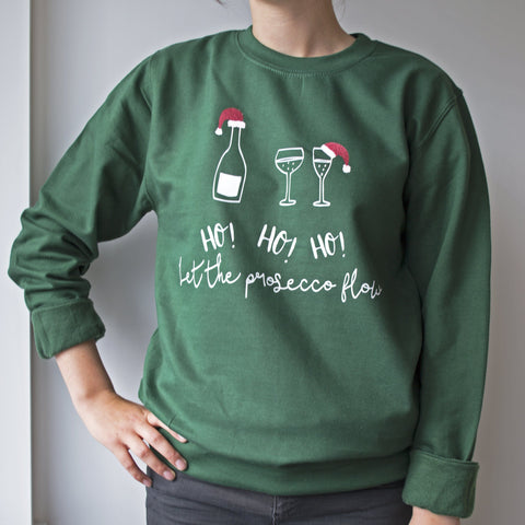 Let The Prosecco Flow Christmas Jumper