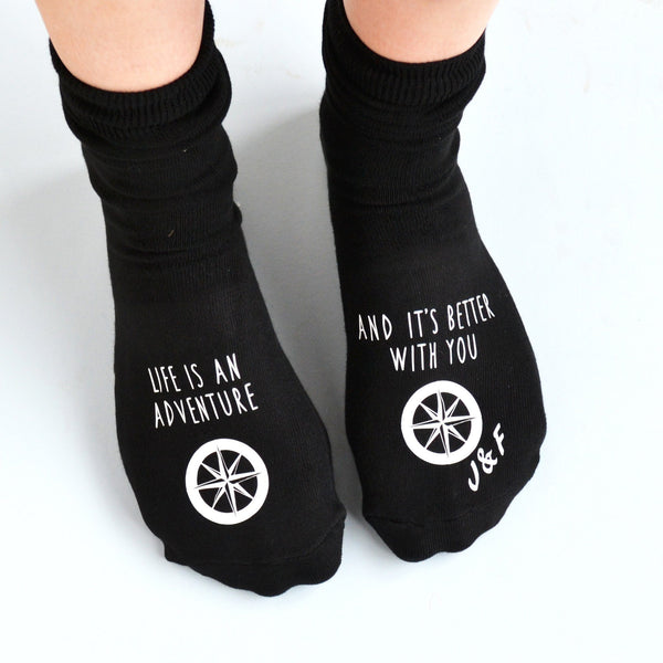 Personalised Adventures Are Better With You Socks, socks, - ALPHS