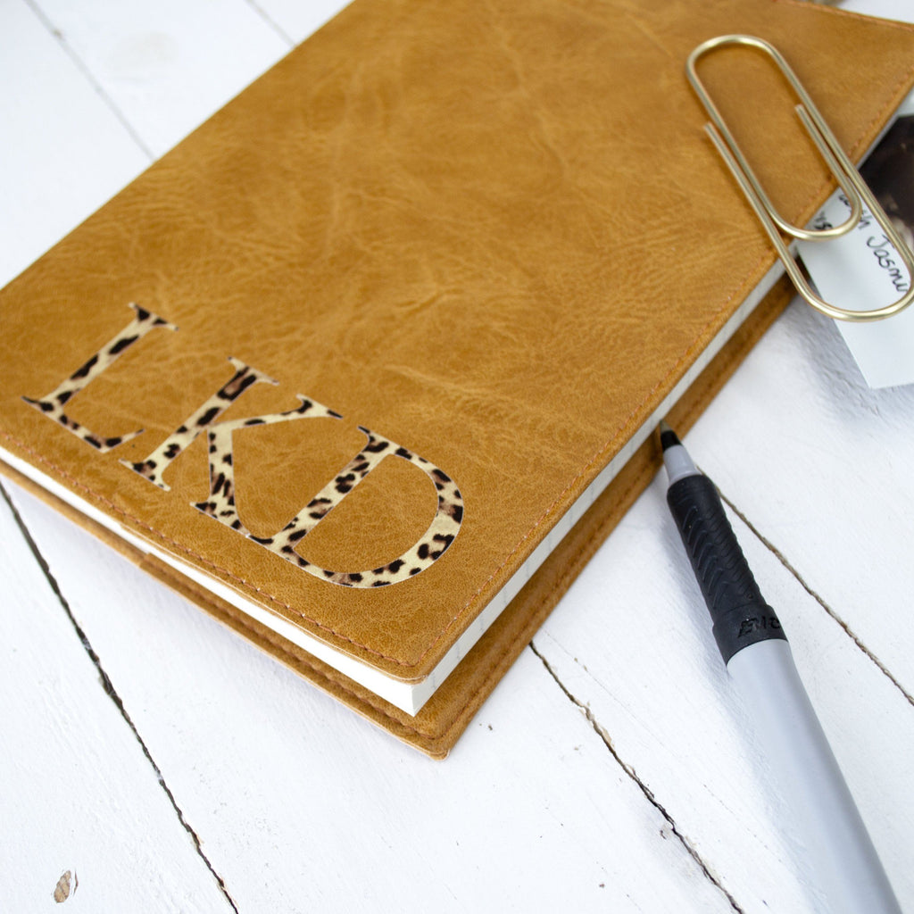Personalised Leopard Print Notebook, notebook, - ALPHS