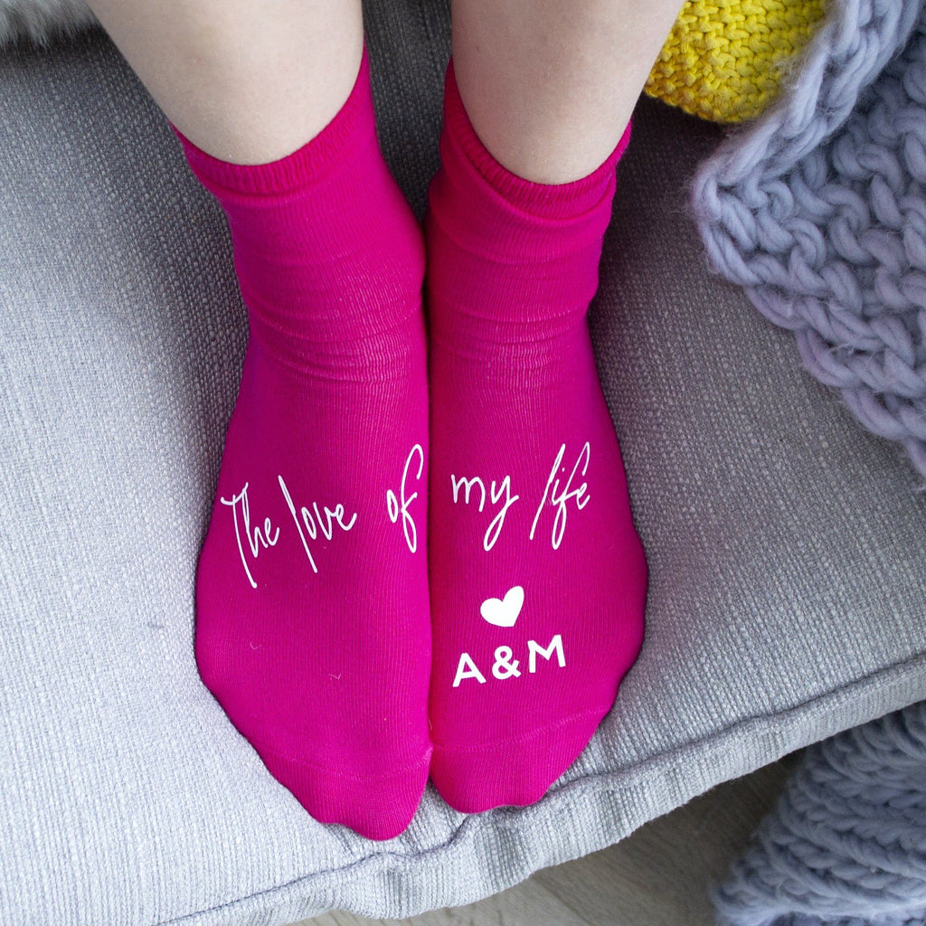 The Love Of My Life Personalised Socks