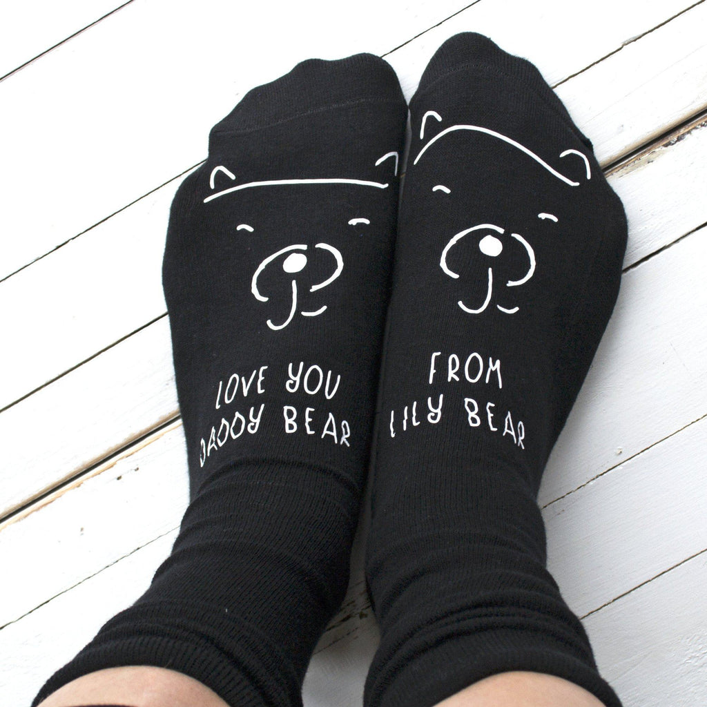 Love You Daddy Bear Personalised Socks, Personalised Socks, - ALPHS