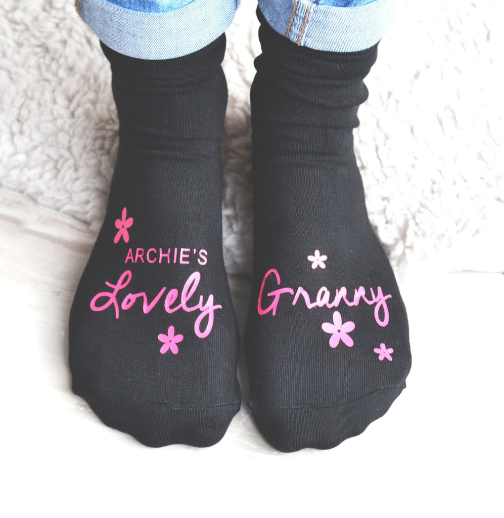 'Lovely Granny' Personalised Socks, socks, - ALPHS