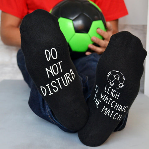 Do Not Disturb Personalised Football Socks - ALPHS  - 1