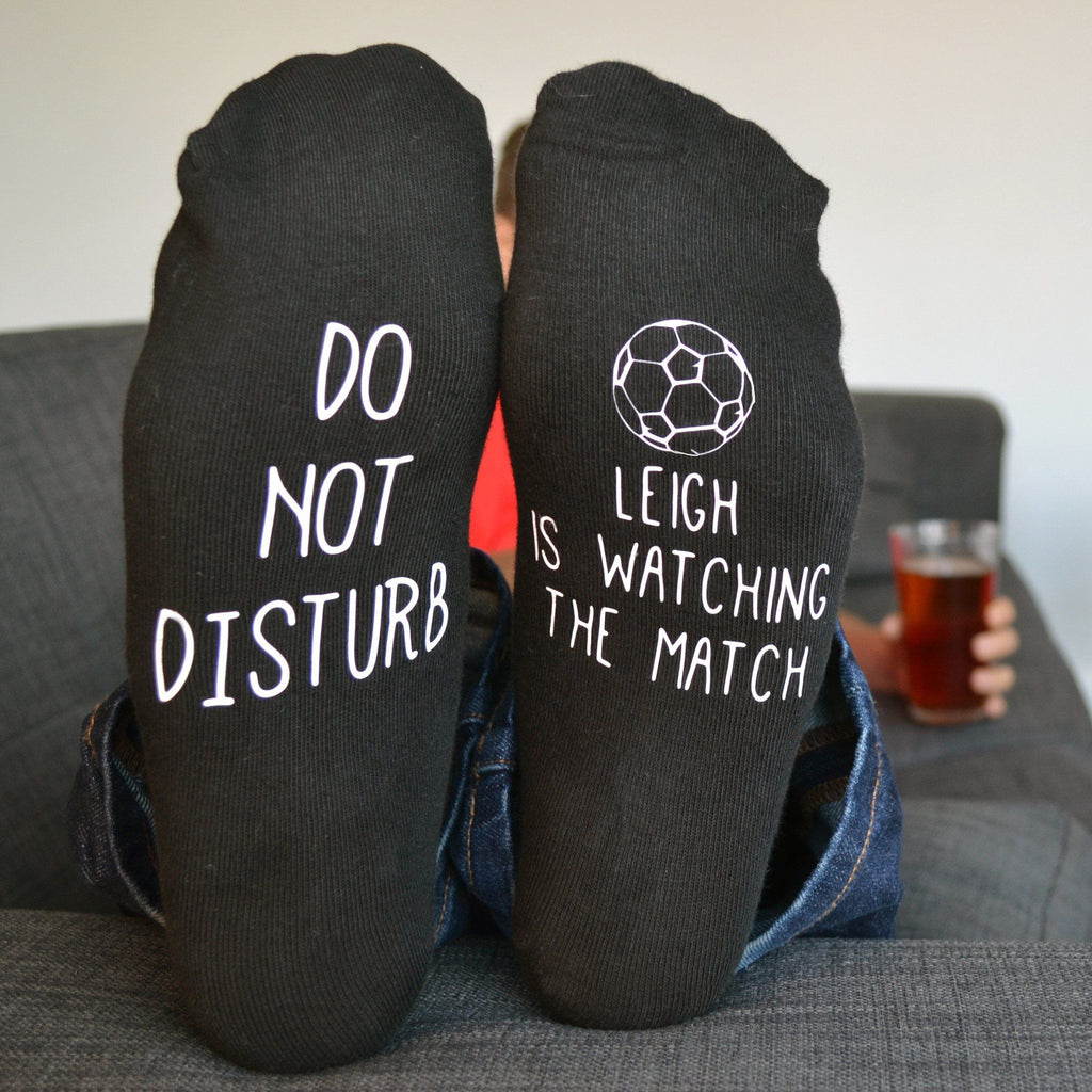 Do Not Disturb Personalised Football Socks, socks, - ALPHS