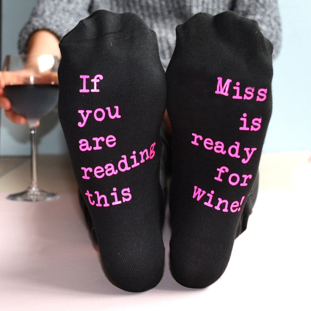 Personalised Teacher Gift - Wine Socks, socks, - ALPHS