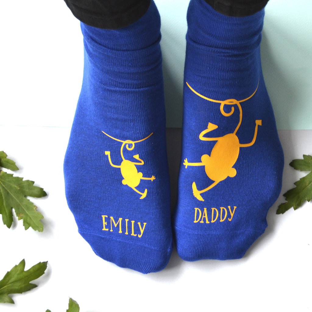 Personalised Cheeky Monkey Daddy Socks, socks, - ALPHS