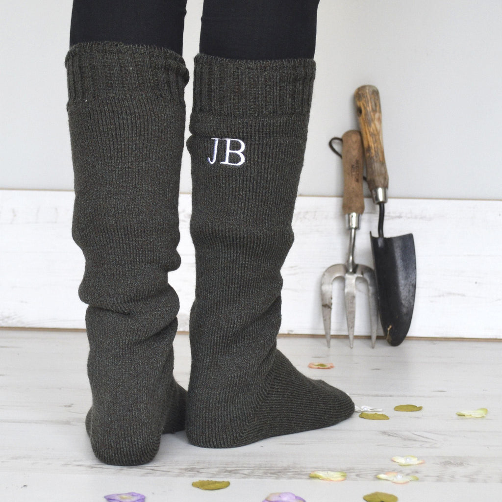 Personalised Gift Boot Socks - Monogrammed Wool, Socks, - ALPHS