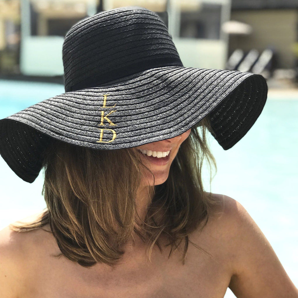 Personalised Monogram Summer Straw Hat, Hats, - ALPHS