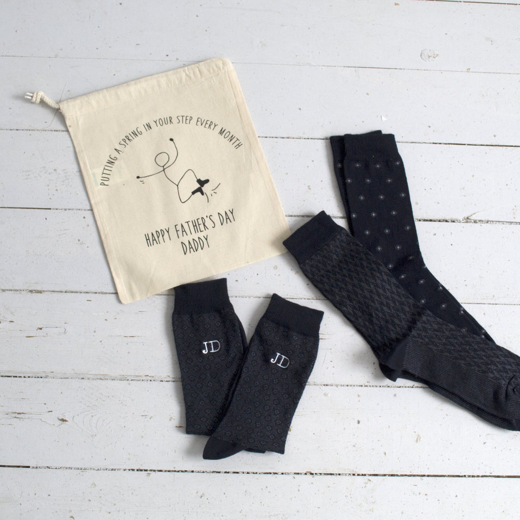 Embroidered Sock Subscription, Socks, - ALPHS