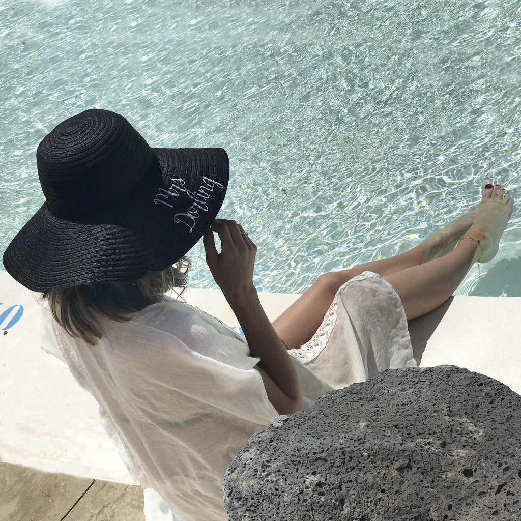 Personalised Wedding Honeymoon Straw Hat