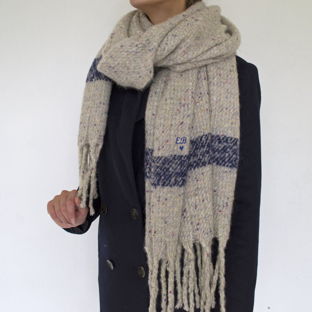 Embroidered Women's Blanket Scarf, scarf, - ALPHS