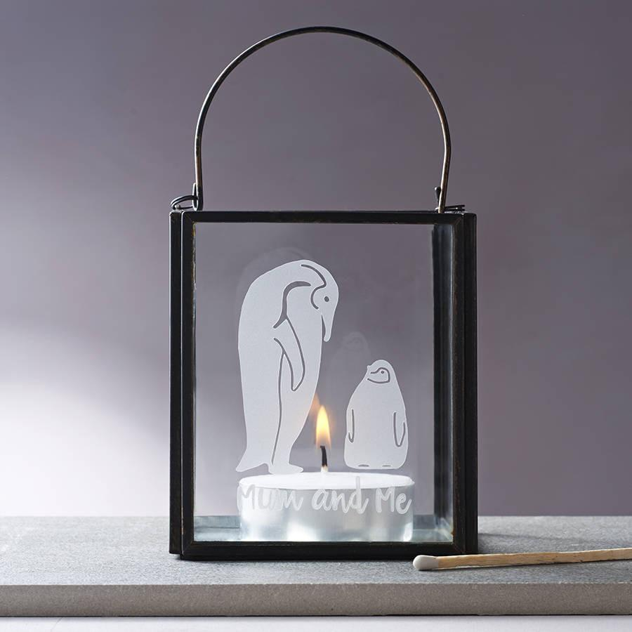 Mummy And Me Penguin Candle Holder, jewellery box, - ALPHS
