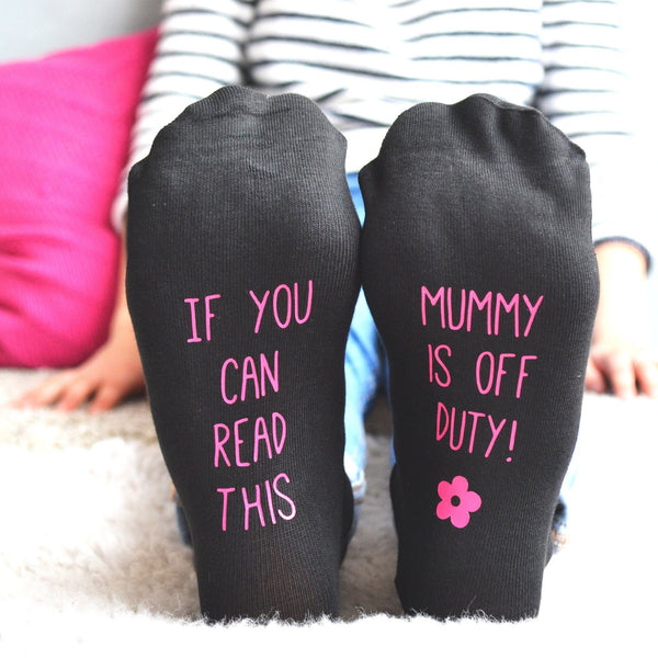 Personalised Mum's Off Duty Socks, Socks, - ALPHS
