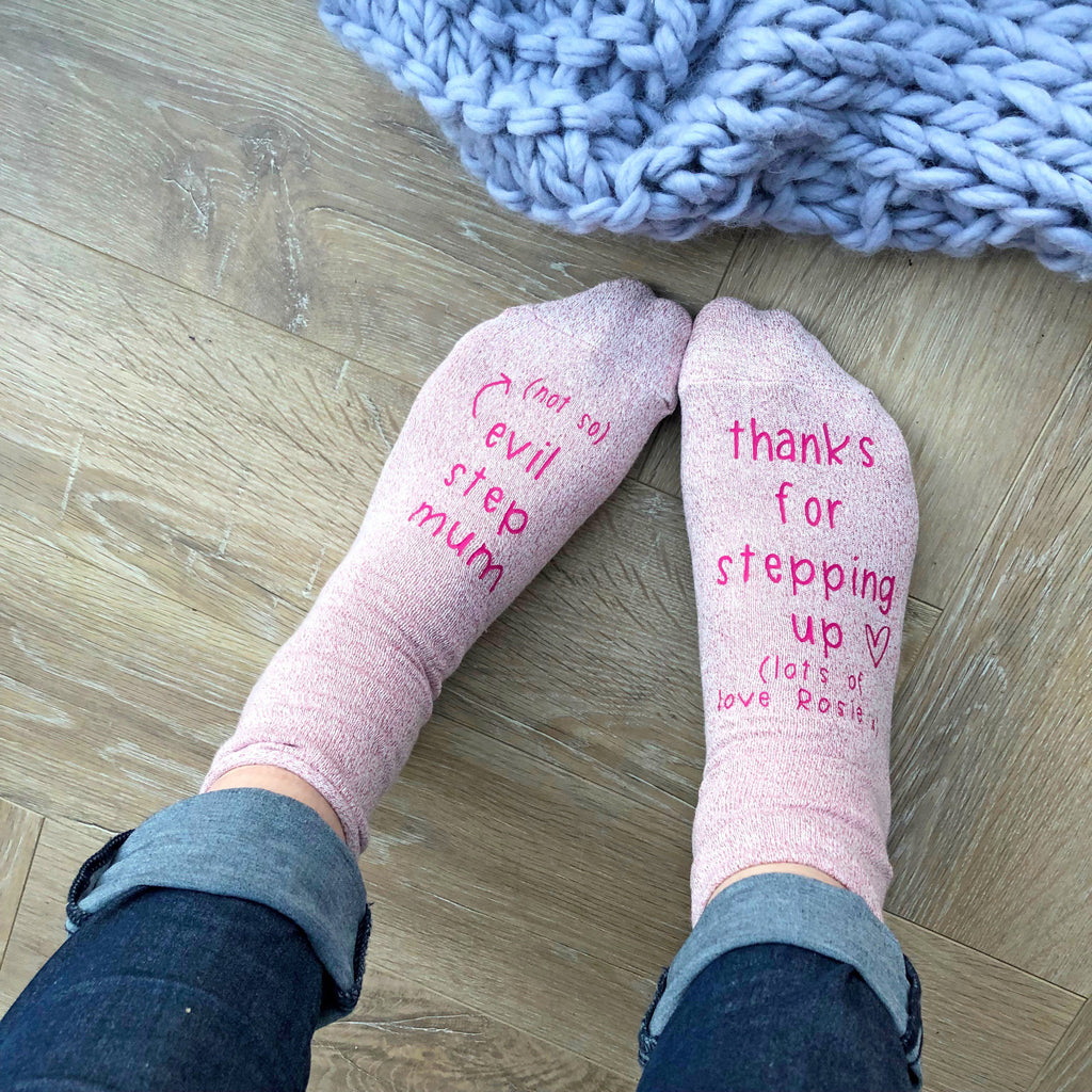 Personalised Not So Evil Step Mum Socks