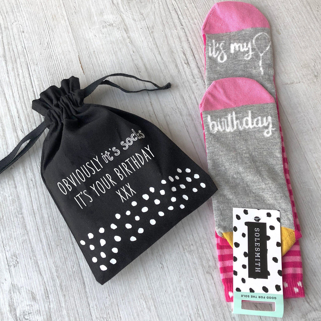 Obviously It's Socks Women's Birthday Socks in a Bag, Socks, - ALPHS