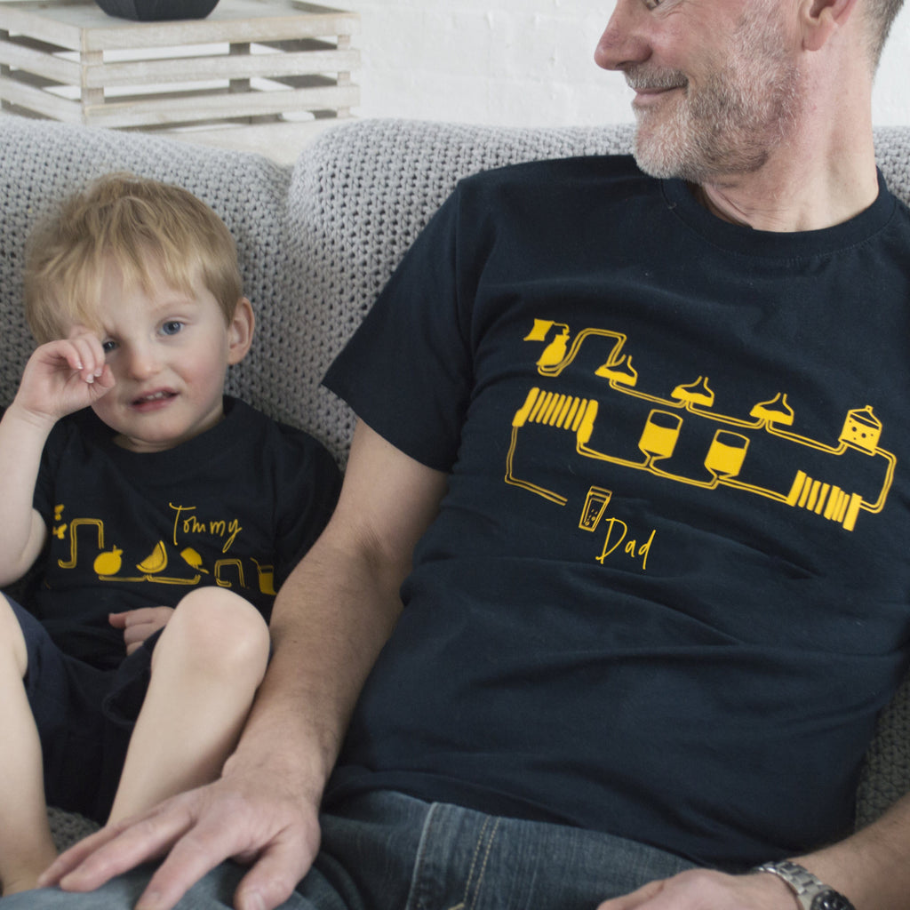 Daddy And Me Science Of Drinks Matching T Shirts, t-shirt, - ALPHS
