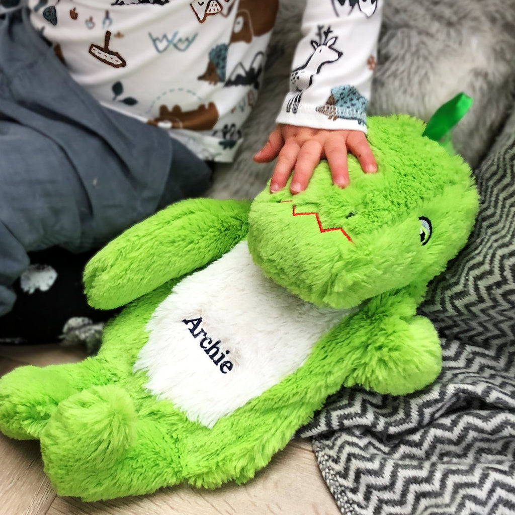 Personalised Dinosaur Hot Water Bottle