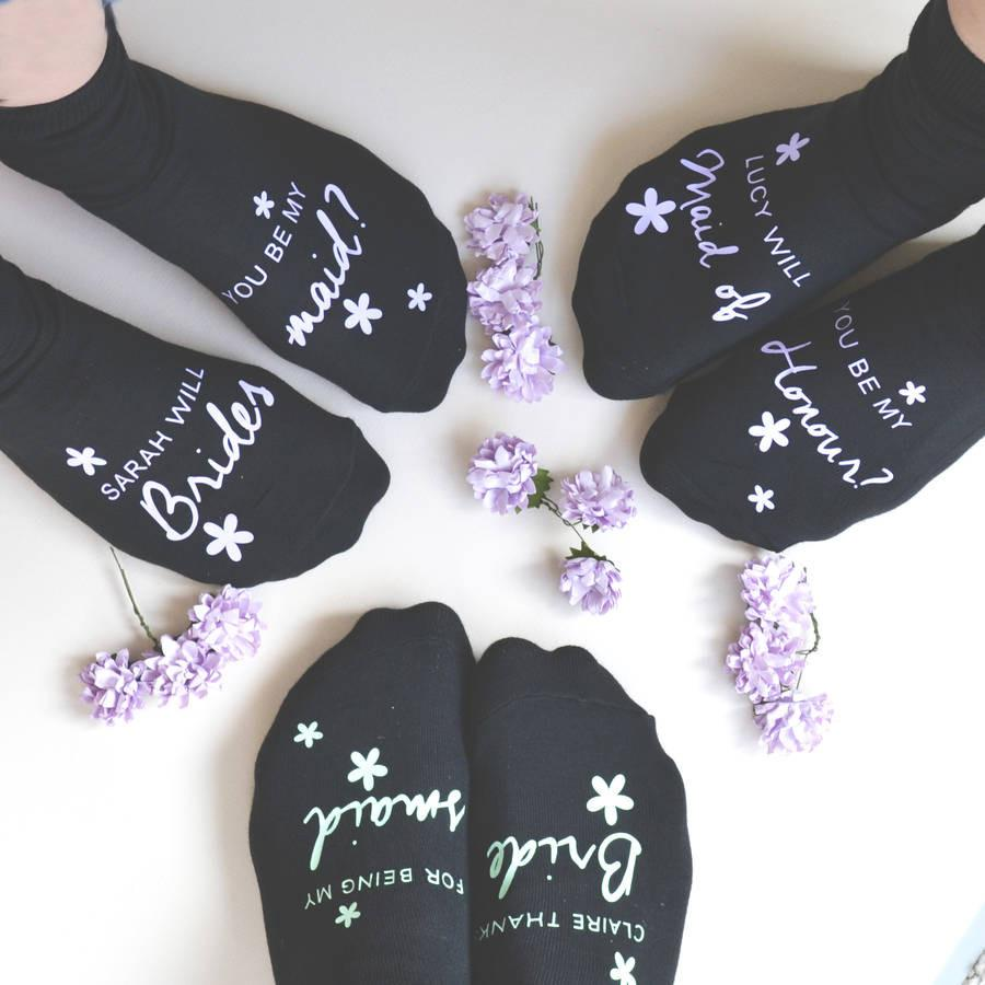 Be My Bridesmaid? Socks, Socks, - ALPHS