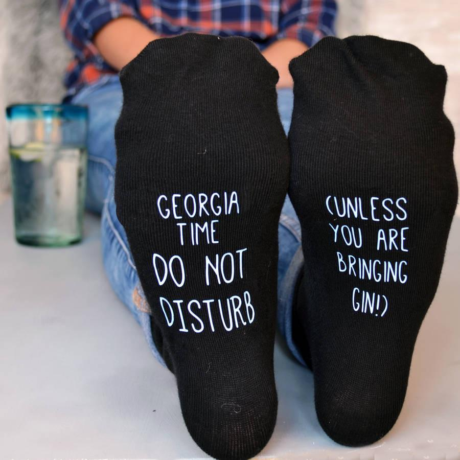 Do Not Disturb Personalised Socks, socks, - ALPHS