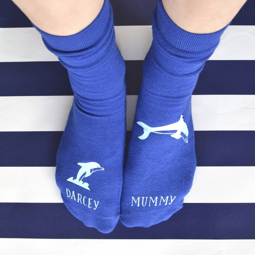 Personalised Socks - Dolphin Adventures, socks, - ALPHS