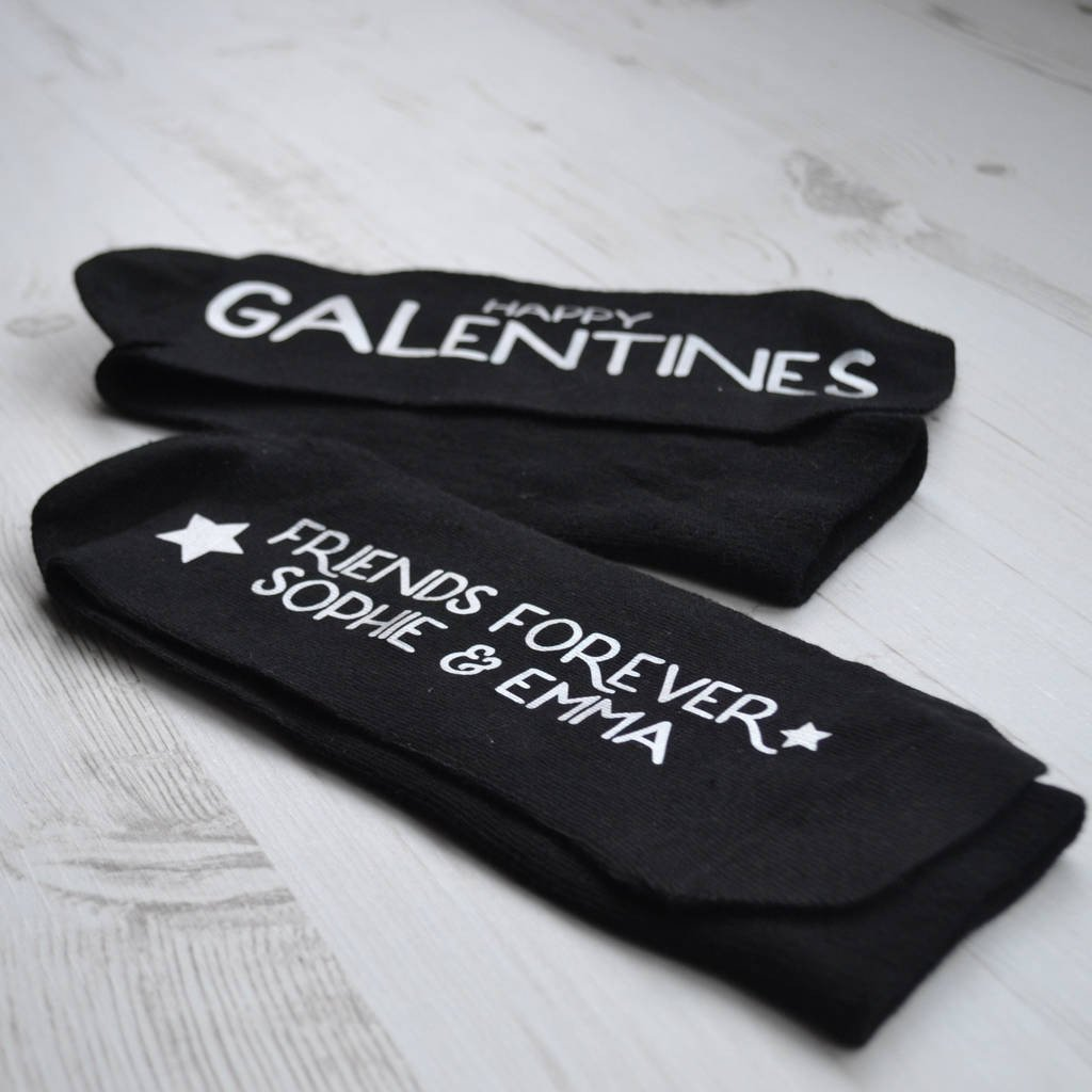 Personalised Gift Socks - Happy Galentine's - Valentines gift for a friend., Socks, - ALPHS