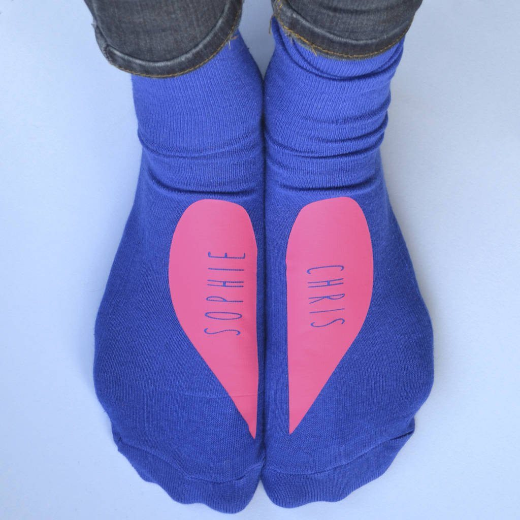 Personalised Gift Socks - Heart Design, Socks, - ALPHS