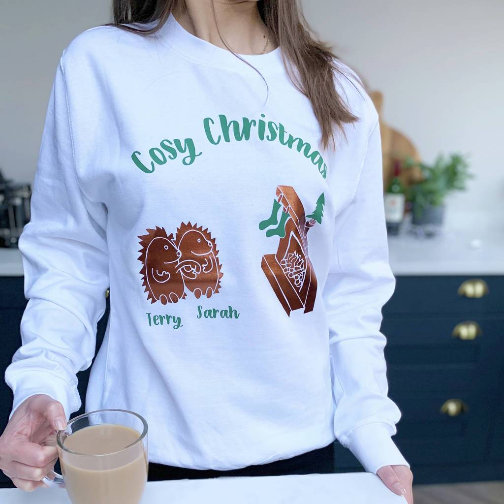 Hedgehogs Cosy Personalised Christmas Jumper, Jumper, Christmas, - ALPHS
