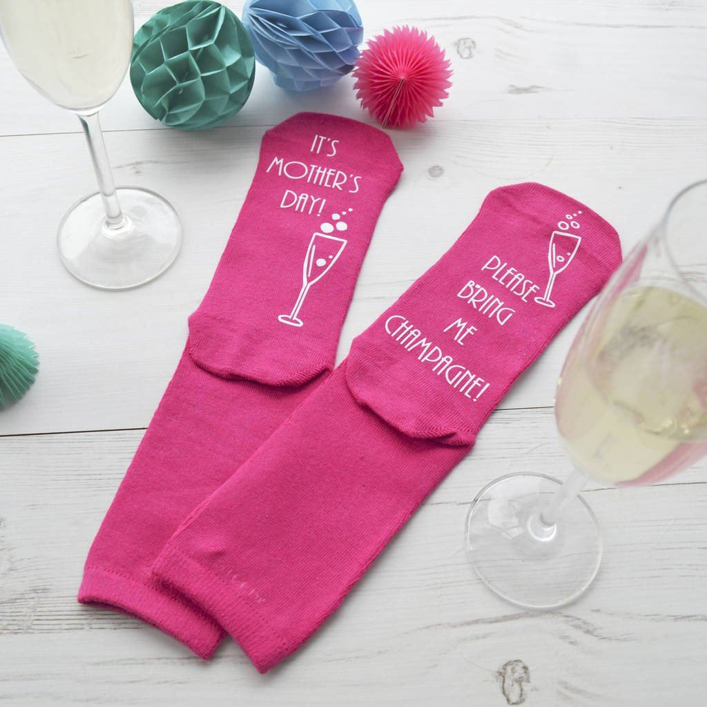 Personalised Mother's Day Socks - Champagne, Socks, - ALPHS
