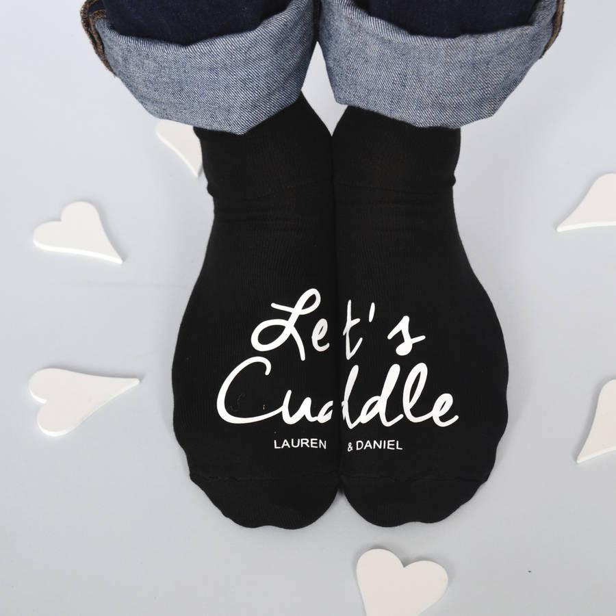 Let's Cuddle! Personalised Socks, socks, - ALPHS