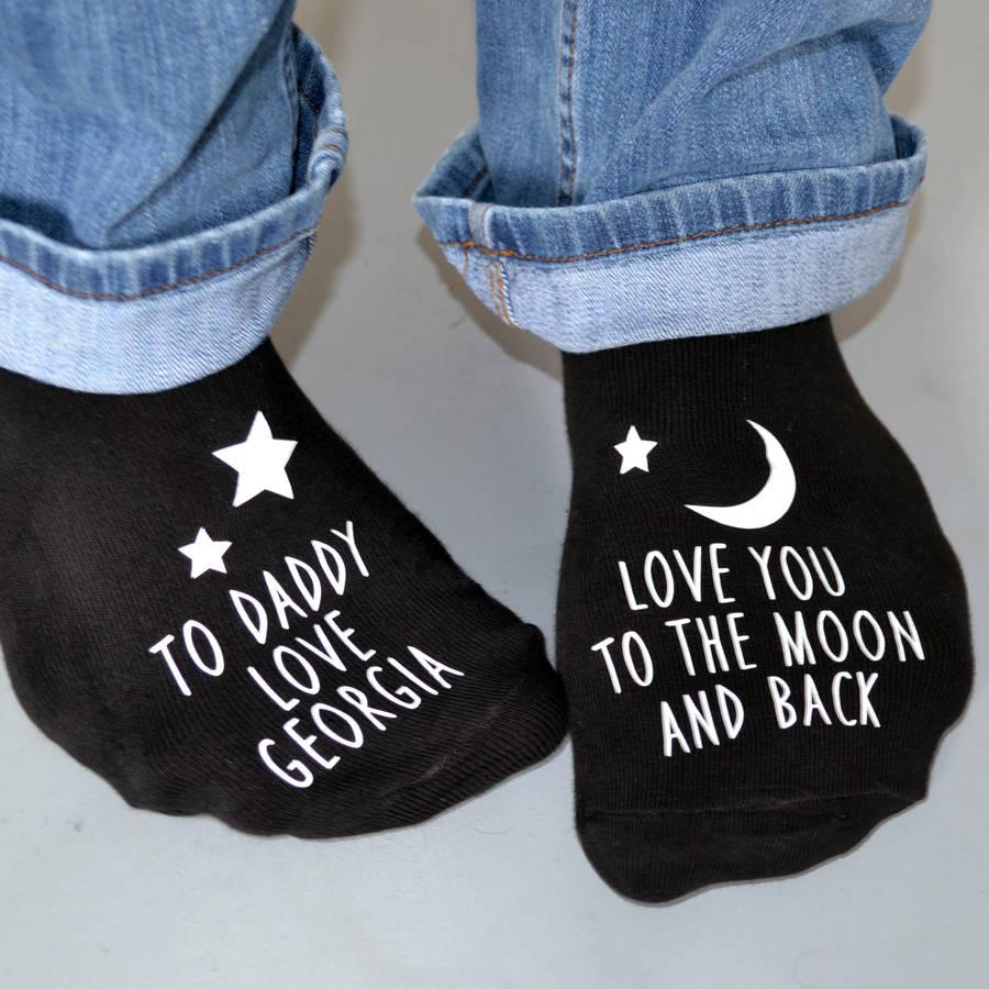 Personalised Gift Socks - Love You To The Moon Glow In The Dark, socks, - ALPHS